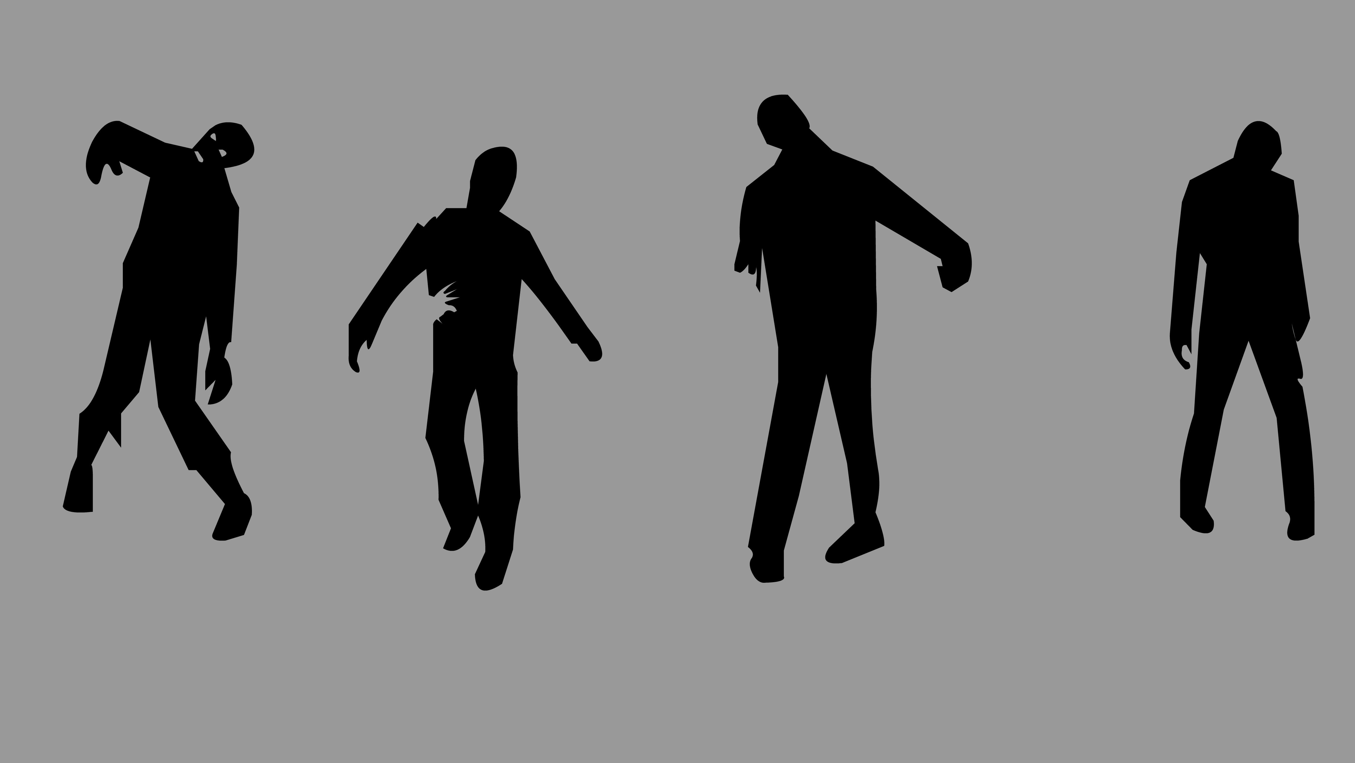 Zombie silhouettesZombie Hand Silhouette